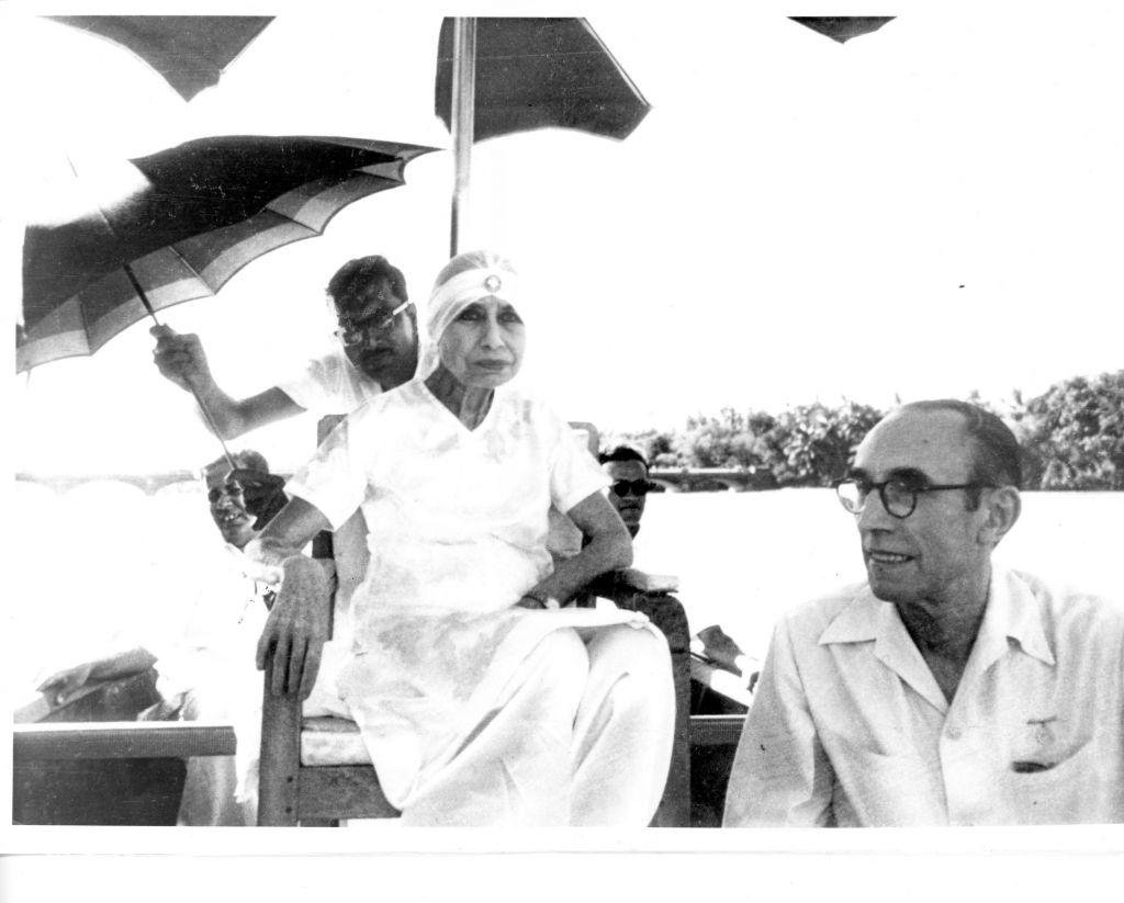 The Mother of Sri Aurobindo Ashram with Pavitra