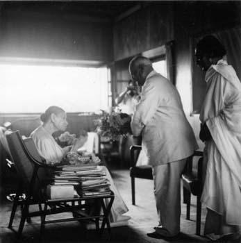 The Mother of Sri Aurobindo Ashram with VV Giri