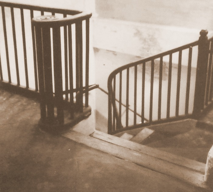 Stairs to the room at playground of Sri Aurobindo Ashram where The Mother met Sri Aurobindo for the first time