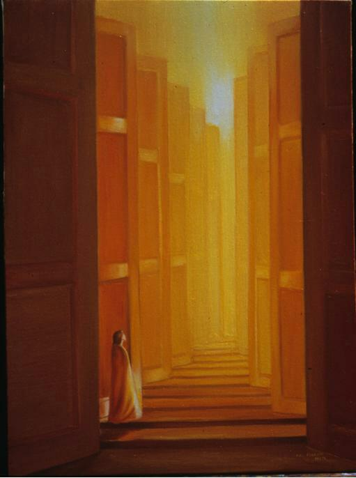 Painting by Priti Di of Sri Aurobindo Ashram